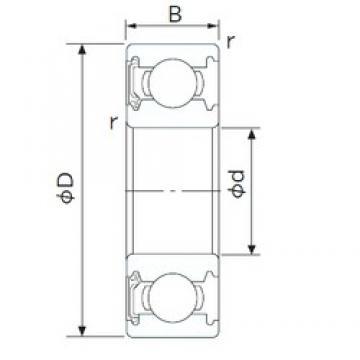 17 mm x 40 mm x 12 mm  NACHI 6203NSE deep groove ball bearings
