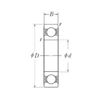 35 mm x 55 mm x 10 mm  NSK 6907L11-H-20DDU deep groove ball bearings