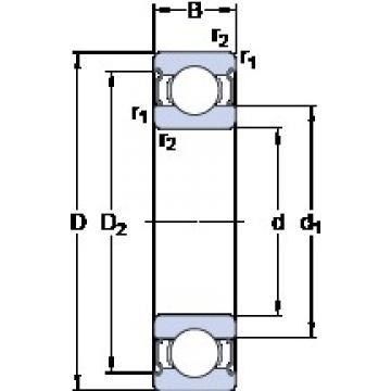 120 mm x 215 mm x 40 mm  SKF 6224-2Z deep groove ball bearings