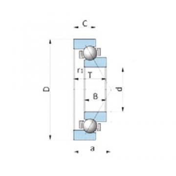NSK BA200-7B angular contact ball bearings