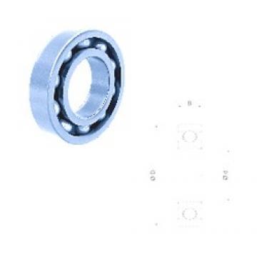 45 mm x 68 mm x 12 mm  Fersa 61909 deep groove ball bearings