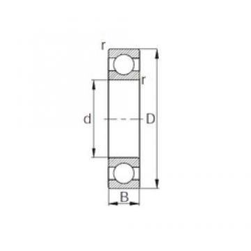 60 mm x 130 mm x 31 mm  CYSD 6312 deep groove ball bearings