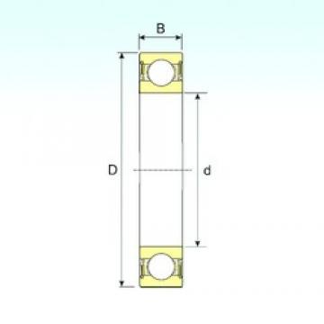 17 mm x 47 mm x 19 mm  ISB 62303-2RS deep groove ball bearings