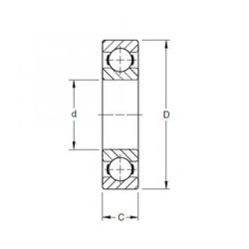 200 mm x 360 mm x 58 mm  Timken 240K deep groove ball bearings