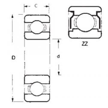 17 mm x 26 mm x 5 mm  FBJ 6803ZZ deep groove ball bearings