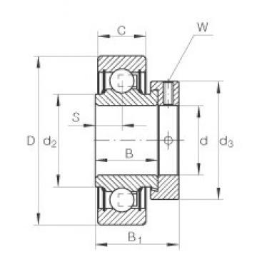 1 inch x 52 mm x 21,4 mm  INA RA100-NPP deep groove ball bearings