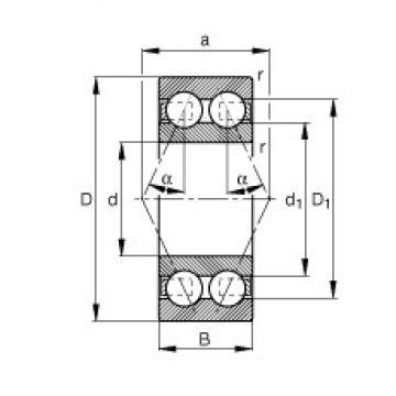 45 mm x 100 mm x 39,7 mm  FAG 3309-BD-TVH angular contact ball bearings
