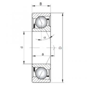 110 mm x 240 mm x 50 mm  ISO 7322 B angular contact ball bearings