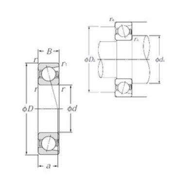 55 mm x 80 mm x 13 mm  NTN 7911C angular contact ball bearings