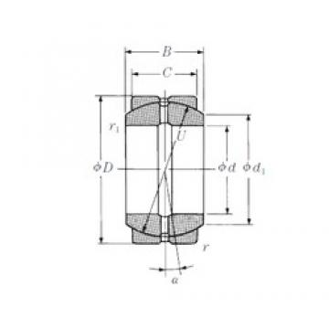 95 mm x 150 mm x 82 mm  NSK 95FSF150 plain bearings