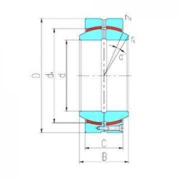 240 mm x 340 mm x 170 mm  LS GEH240HCS plain bearings