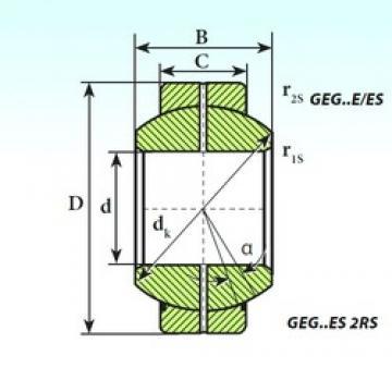 240 mm x 370 mm x 190 mm  ISB GEG 240 ES plain bearings