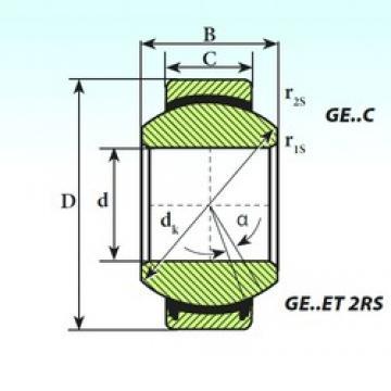 160 mm x 230 mm x 105 mm  ISB GE 160 ET 2RS plain bearings