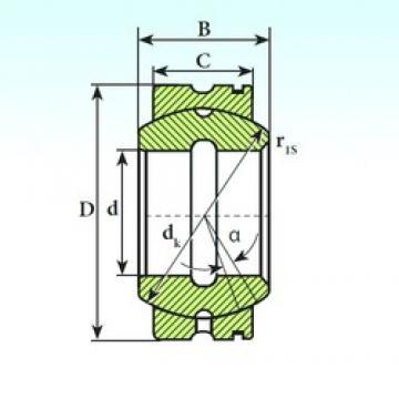 100 mm x 160 mm x 88 mm  ISB GE 100 XS K plain bearings