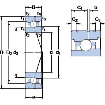 65 mm x 90 mm x 13 mm  SKF 71913 ACB/P4AL angular contact ball bearings