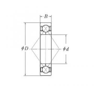 30 mm x 72 mm x 19 mm  CYSD QJ306 angular contact ball bearings